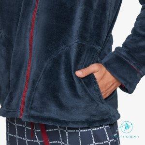 MUYDEMI uomo giacca da camera ciniglia Art. 334313